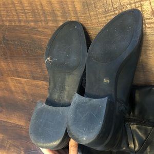 BCBGeneration Shoes - BCBG Black Leather Boots 7.5